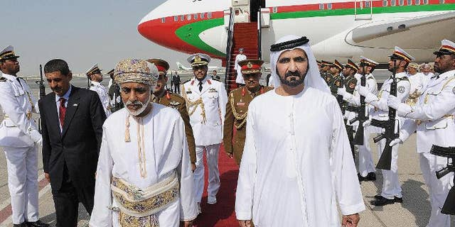 Sheikh Mohammed bin Rashid al-Maktoum arrives at Dubai airport on October 22, 2012