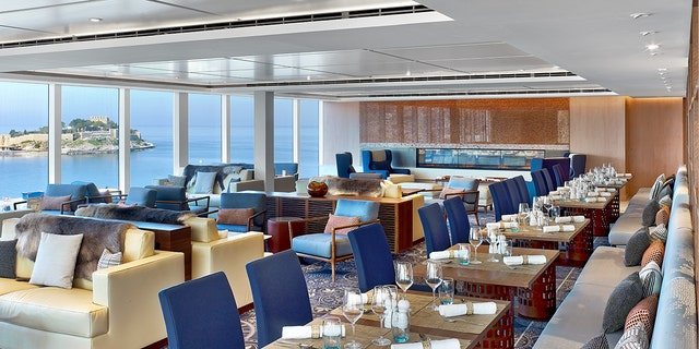 The ship accommodates 930 guests in 465 All-Veranda Staterooms and boasts two pool choices.