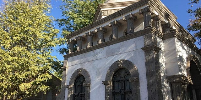 No expense spared: This mausoleum cost $500,000, according to construction workers, although it's unclear who it has been built in honor of