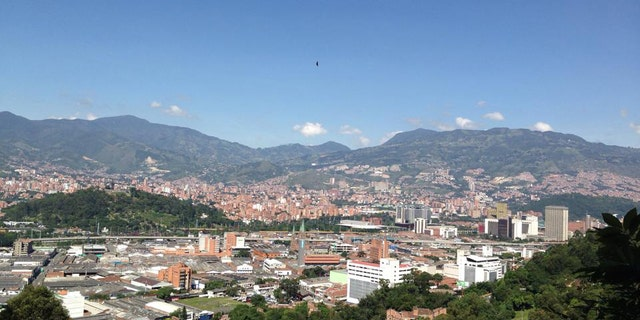 A panoramic view of Medellín, Colombia.