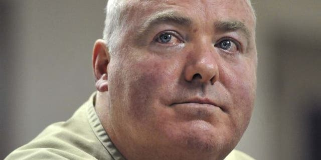 FILE: Oct. 24, 2012: Michael Skakel listens during a parole hearing at McDougall-Walker Correctional Institution in Suffield, Conn.