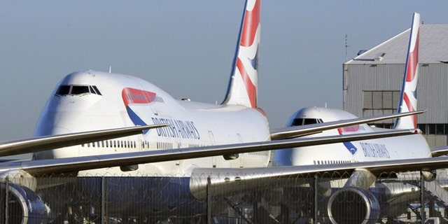 April 21: British Airways  aircraft are seen parked at Heathrow airport in west London. (AP)