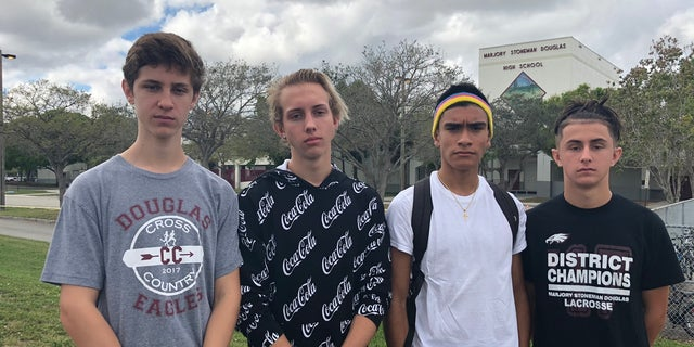 Cross country runners at Marjory Stoneman Douglas High School organized a walk/run in honor of the victims, in particular Coach Scott Beigel.