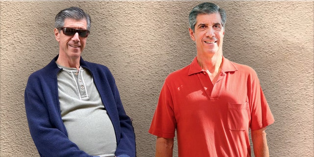BEFORE/AFTER: Doctors believe it took 10 to 15 years for the mass in Daly's abdomen to grow to the size it did.  The 63-year old's pot belly went down following surgery.