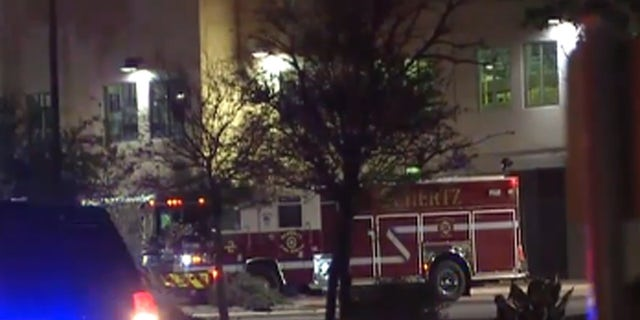 Officials at the scene after a blast was reported at a FedEx ground distribution facility in Schertz, Texas.
