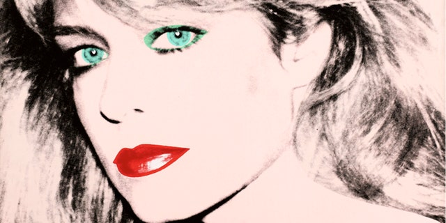 "FILE: This photo released by courtesy of the Blanton Museum of Art shows Andy Warhol's painting of ""Farrah Fawcett,"" 1980."