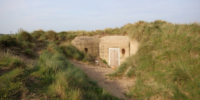 The three acre lot of land at St Ouen's Bay houses a German military bunker built by the Nazis during World War II.