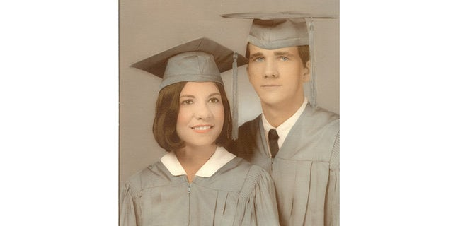 Elaine Stevens with her high school sweetheart Ronnie Harrison.