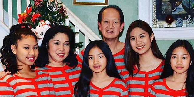 Mary Rose Ballocanag, second from left, was her family's only survivor in a horrific crash last week.