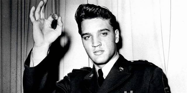 Elvis in the military.