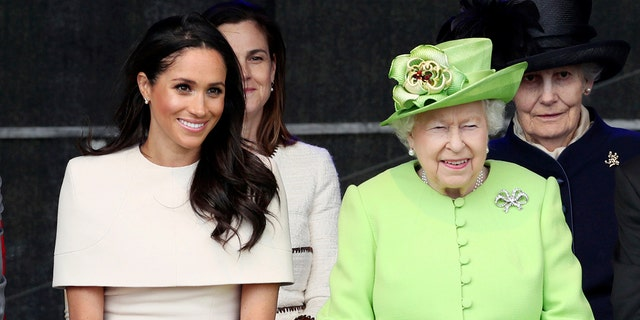Queen Elizabeth and the Duchess of Sussex stepped out together on June 14, 2018.