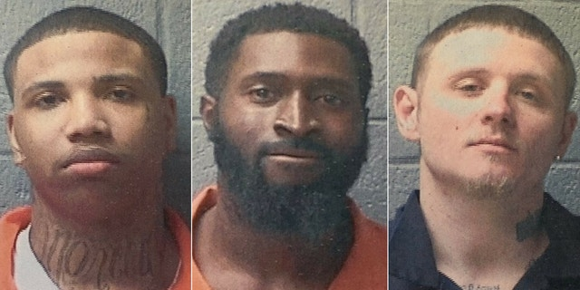 From left to right, Curtis Ray Green, 20, and Tyshon Demontrea Johnson, 27, are still on the loose. Christopher Shannon Boltin, 27, (right) was captured on Sunday. (Orangeburg County Sheriff's Office)