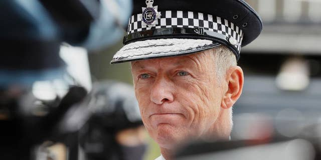 "FILE - In this Wednesday, Aug. 3, 2016 file photo, Metropolitan Police chief Bernard Hogan-Howe is interviewed during a media opportunity in London.  London's police chief says he doesn't think Britain's exit from the European Union will hurt international cooperation against crime and terrorism. Hogan-Howe told journalists on Wednesday, Jan. 18, 2017 that Britain should be able to retain some form of association with the EU police organization, Europol, and ""maintain similar arrangements"" to the current EU-wide extradition warrant. (AP Photo/Kirsty Wigglesworth, File)"