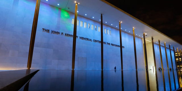 """This Feb. 28, 2013 photo shows The John F. Kennedy Center Memorial Center for the Performance Arts illuminated as part of the """"Nordic Cool 2013: Northern Lights"""" exhibit, in Washington. Innovative Danish lighting designer Jesper Kongshaug recreates the effect of the Northern Lights on all four sides of the Kennedy Center's façade. There are probably more free things to do in the U.S. capital than nearly any other major city in the world. The most popular museums and the zoo are free, thanks to government funding, as well as the picturesque memorials and monuments. With so many free options, the biggest challenge might be narrowing down what to see.  (AP Photo/Alex Brandon)"""