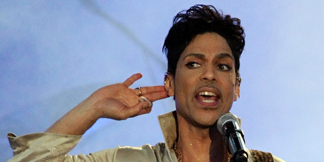 Prince performs in England in 2011.
