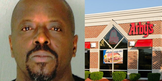 Derrick Dewayne Hopkins was arrested after a brief tussle with a Georgia state trooper and a nearby Arby's customer.