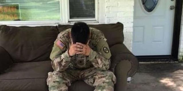 National Guardsman Luis Ocampo was working in the low-lying riverfront city of New Bern for 10 days when he found out that his North Carolina home had been burglarized.