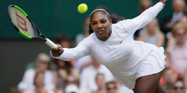 Serena Williams gave birth 10 months ago before the Wimbledon final.