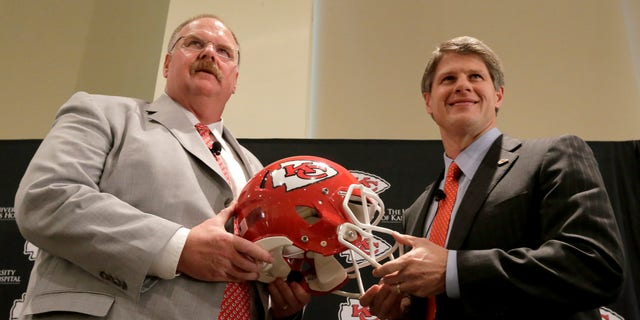 Clark Hunt talked about his faith in 2019. (AP Photo/Charlie Riedel)