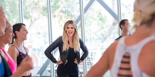 "Khloe Kardashian is seen in a promotional image for ""Revenge Body."""