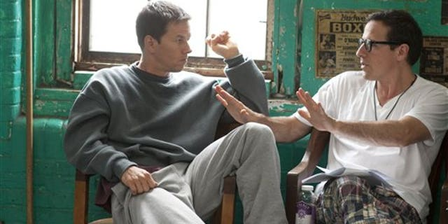 Mark Wahlberg and director David O. Russell on the set of 'The Fighter.' (AP /Paramount)
