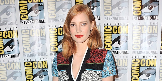 Actress Jessica Chastain poses at the Legendary Pictures panel during Comic-Con International 2015 the at the San Diego Convention Center on July 11, 2015 in San Diego, Calif.
