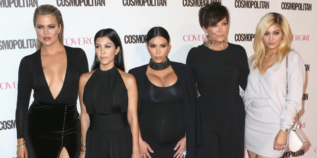 October 12, 2015  TV personalities Khloe Kardashian, Kourtney Kardashian, Kim Kardashian, Kris Jenner and Kylie Jenner attend Cosmopolitan's 50th Birthday Celebration at Ysabel in West Hollywood.