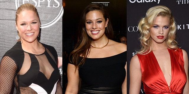 Sports Illustrated swimsuit cover women. Ronda Rousey, Ashley Graham, Hailey Clauson.