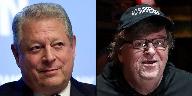 Al Gore and Michael Moore