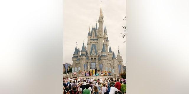 Visitors snap photos of Walt Disney World following Hurricane Irma.