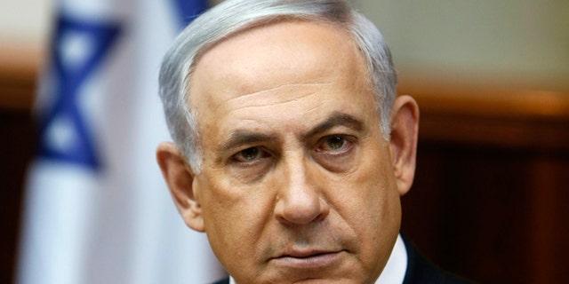 FILE -- February 1, 2015: Israel's Prime Minister Benjamin Netanyahu chairs the weekly cabinet meeting in Jerusalem.