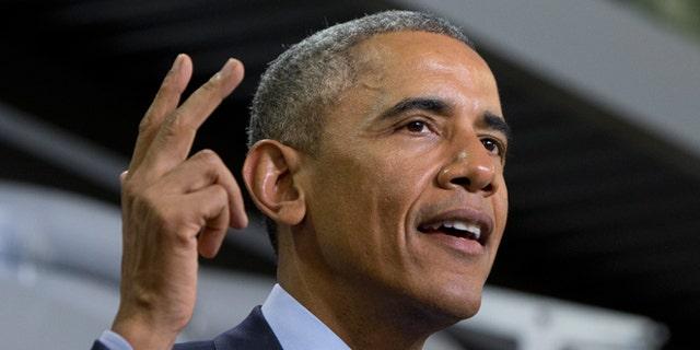 FILE -- Jan. 14, 2015: President Obama speaks at Cedar Falls Utilities in Cedar Falls, Iowa.
