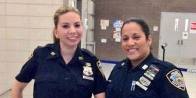 NYPD officers Christine Damico and Celine Diaz used naloxone to revive a 26-year-old Staten Island man on Saturday, police say. (Photo credit: NYPD)