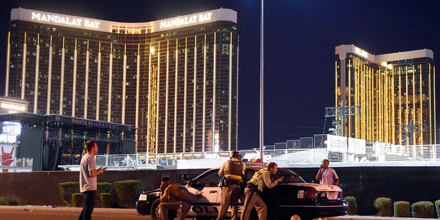 Gunman Stephen Paddock fired at a Las Vegas concert from the 32nd floor of the Mandalay Bay Hotel and Casino on Oct. 1, 2017, killing 58 people.
