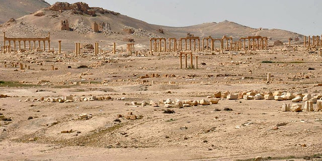 Small signs of splendor are left in the largely destroyed ancient city of Palmyra.