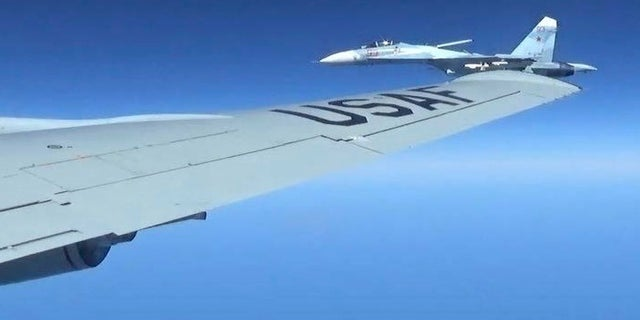 A Russian jet came within a few feet of a U.S. Air Force reconnaissance jet over the Baltic Sea on June 19, 2017.