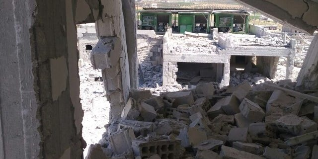 Hospital in Idlib, Syria following a bombing.