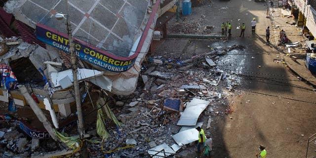 Rubble from the earthquake in Manta, Ecuador, on April 20.
