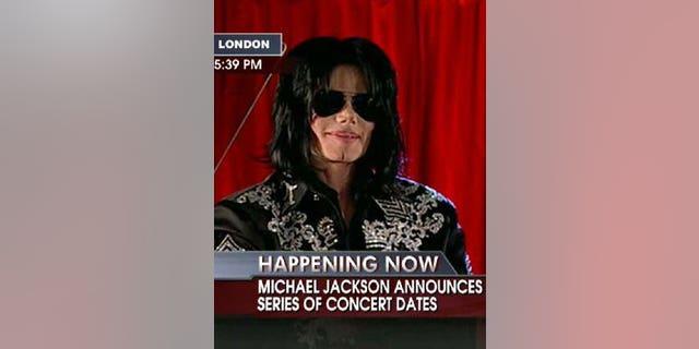 Michael Jackson announces a series of London tour dates on Thursday March 5, 2009.