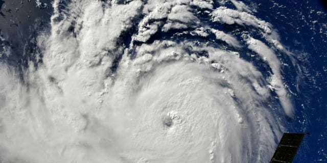 This photo provided by NASA shows Hurricane Florence from the International Space Station on Monday, as it threatens the U.S. East Coast.