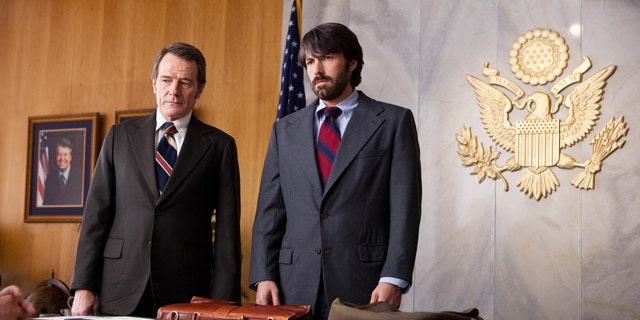 Pictures shows Bryan Cranston, left, as Jack O'Donnell and Ben Affleck as Tony Mendez in