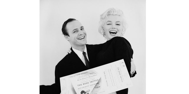 "Marlon Brando (left) with Marilyn Monroe. Taken from the book ""The Essential Marilyn Monroe,"" published by ACC Editions."