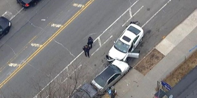 Two children were killed and several other people were injured after a car truck people in Brooklyn on Monday.