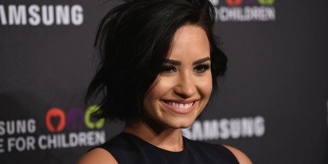 Demi Lovato at Hammerstein Ballroom on September 17, 2015 in New York City.