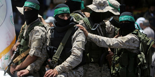 Israeli sources tell Fox News a group that does legal work for the terrorist group Hamas, pictured here, is taking part in the UN-sponsored forum.