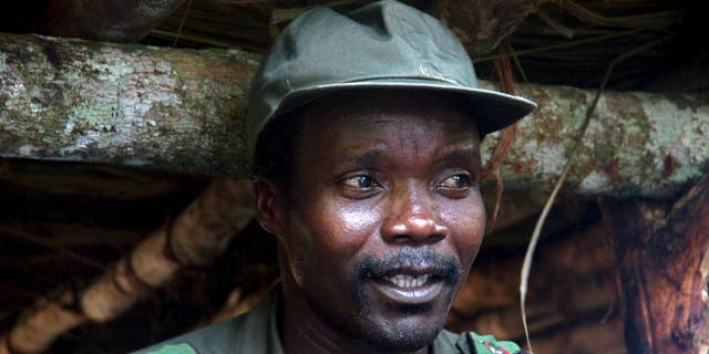 In this July 31, 2006 file photo, Joseph Kony, leader of the Lord's Resistance Army, speaks during a meeting with a delegation of 160 officials and lawmakers from northern Uganda. Uganda's military says it has started pulling its forces from Central African Republic, where troops had been pursuing one of Africa's most notorious fugitives, Joseph Kony.