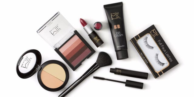 Some of the new beauty line's offerings include fake eyelashes, lipsticks and bronzers.