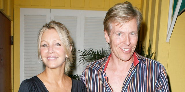 """Heather Locklear and Jack Wagner are like what Barbie and Ken would look like in their 50s - Jack is two years older than Heather. Unlike Barbie and Ken, these two couldn't keep a good thing going and are no longer together. For more pics of Heather and Jack, go to <a href=""""http://www.x17online.com"""" target=""""_blank"""">x17online.com.</a>"""