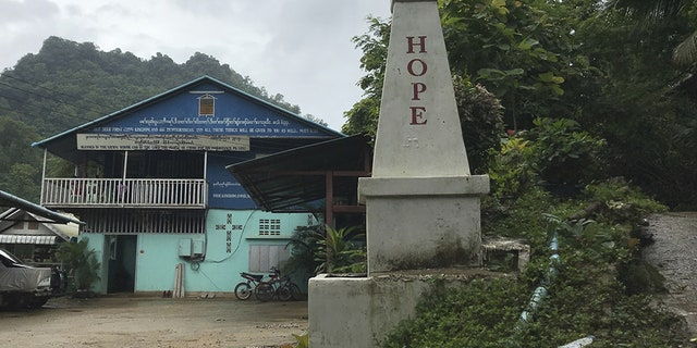 A church for the Burmese Karen Christians on the grounds of the world's largest refugee camp, Mae La in Thailand.