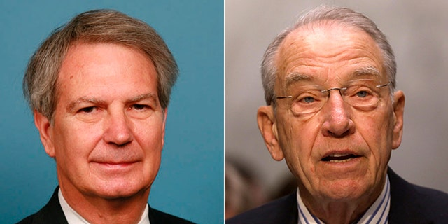 Rep. Walter Jones, R-N.C., (left) and Sen. Chuck Grassley, R-Iowa, are leading a congressional effort to declassify thousands of documents and recordings compiled by the CIA and FBI.